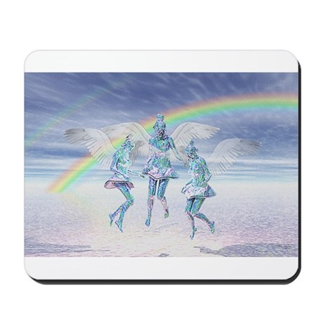 Angels and Rainbows Mousepad