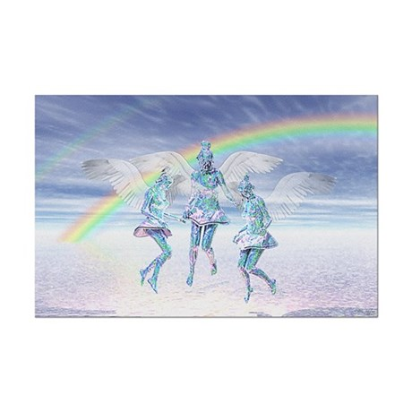 Angels and Rainbows Mini Poster Print