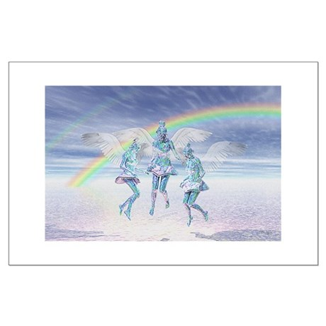 Angels and Rainbows Large Poster