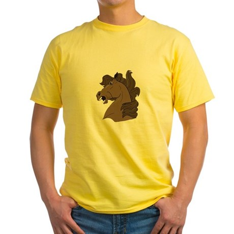 Brown Horse Yellow T-Shirt