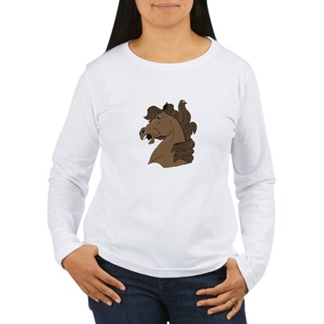 Brown Horse Women's Long Sleeve T-Shirt