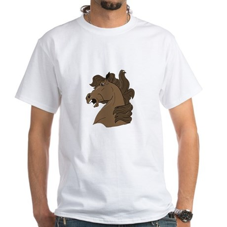 Brown Horse White T-Shirt