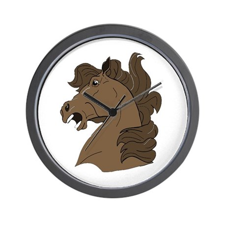 Brown Horse Wall Clock