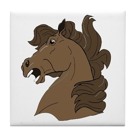 Brown Horse Tile Coaster