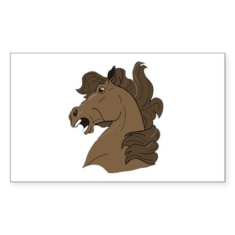 Brown Horse Rectangle Sticker