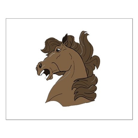 Brown Horse Small Poster