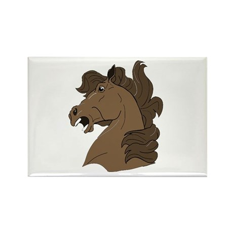 Brown Horse Rectangle Magnet (10 pack)