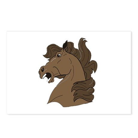 Brown Horse Postcards (Package of 8)