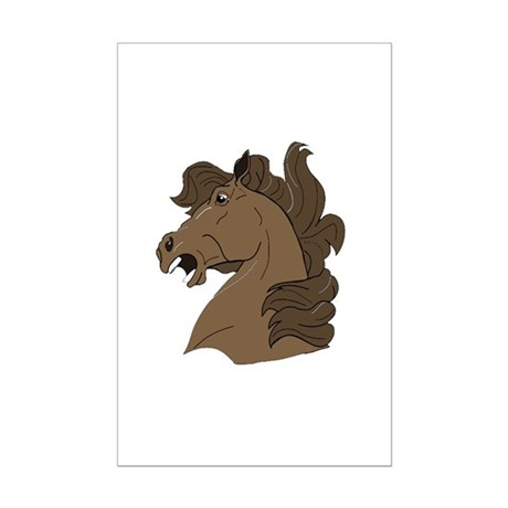 Brown Horse Mini Poster Print