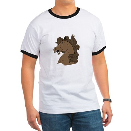 Brown Horse Ringer T