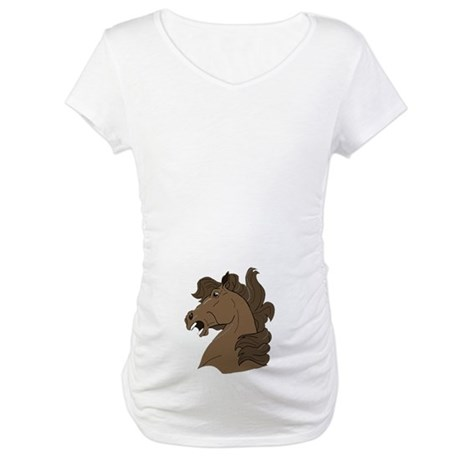 Brown Horse Maternity T-Shirt