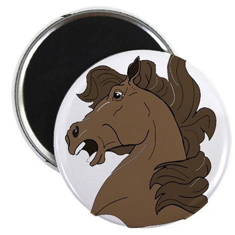 "Brown Horse 2.25"" Magnet (100 pack)"