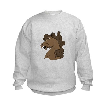 Brown Horse Kids Sweatshirt