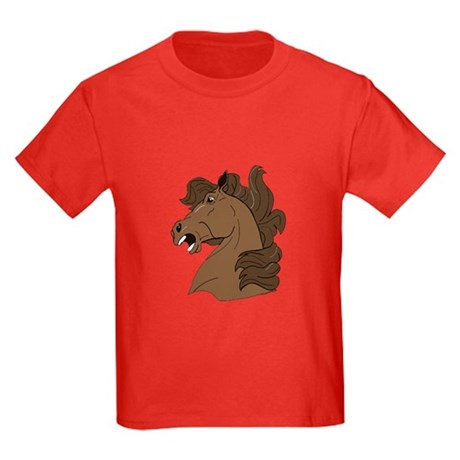 Brown Horse Kids Dark T-Shirt