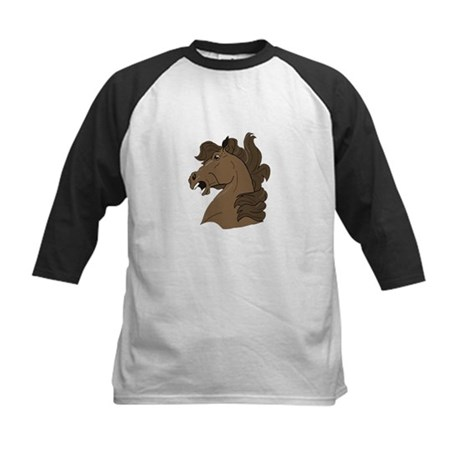 Brown Horse Kids Baseball Jersey