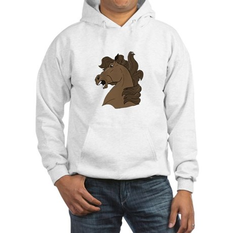 Brown Horse Hooded Sweatshirt
