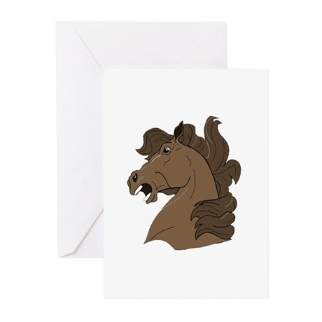 Brown Horse Greeting Cards (Pk of 20)