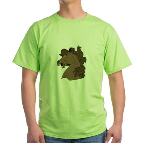 Brown Horse Green T-Shirt