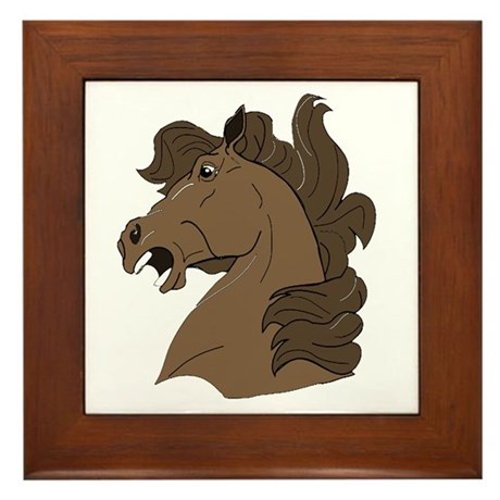 Brown Horse Framed Tile