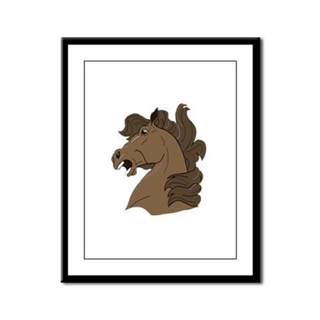 Brown Horse Framed Panel Print