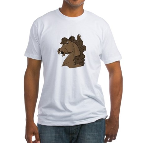 Brown Horse Fitted T-Shirt