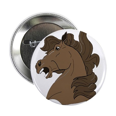 Brown Horse Button