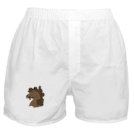 Brown Horse Boxer Shorts