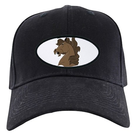 Brown Horse Black Cap