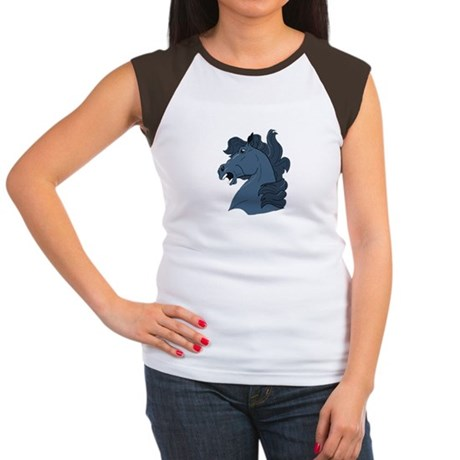 Blue Horse Women's Cap Sleeve T-Shirt