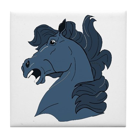 Blue Horse Tile Coaster
