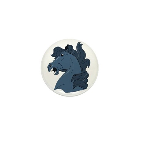 Blue Horse Mini Button (100 pack)