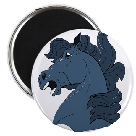 "Blue Horse 2.25"" Magnet (10 pack)"