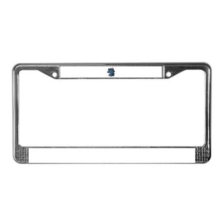 Blue Horse License Plate Frame