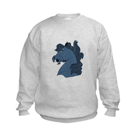 Blue Horse Kids Sweatshirt
