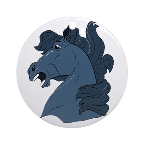 Blue Horse Ornament (Round)