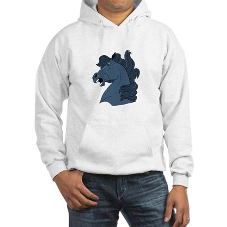 Blue Horse Hooded Sweatshirt