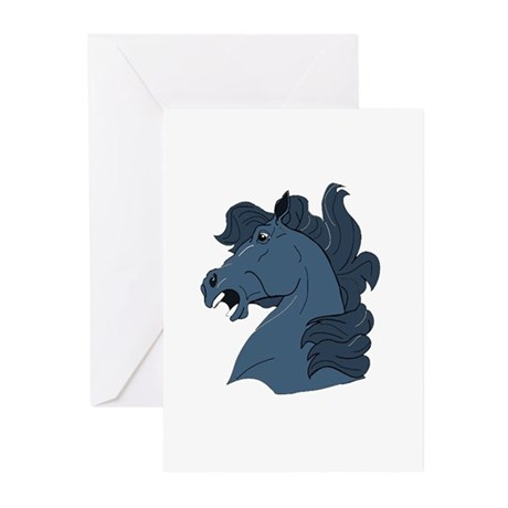 Blue Horse Greeting Cards (Pk of 10)