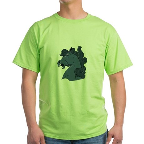 Blue Horse Green T-Shirt