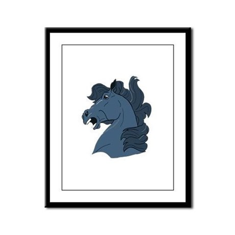 Blue Horse Framed Panel Print