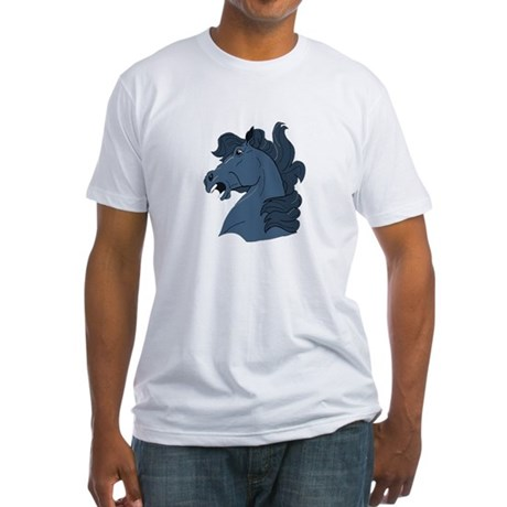 Blue Horse Fitted T-Shirt