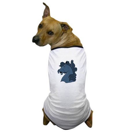Blue Horse Dog T-Shirt