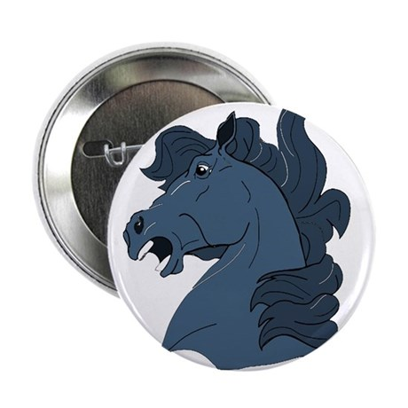 "Blue Horse 2.25"" Button (10 pack)"