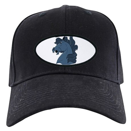 Blue Horse Black Cap