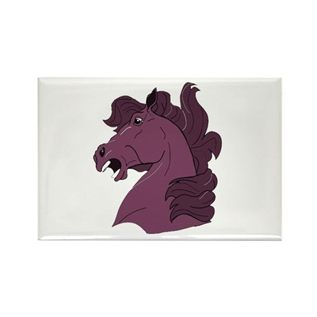 Purple Horse Rectangle Magnet (100 pack)