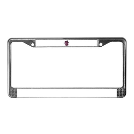 Purple Horse License Plate Frame