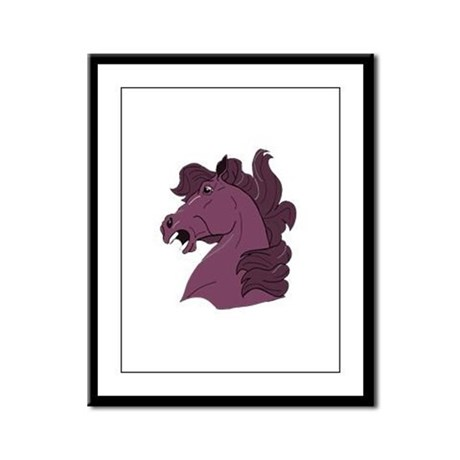 Purple Horse Framed Panel Print
