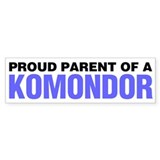 Proud Parent of a Komondor Bumper Sticker