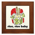 Rice Rice Baby Framed Tile
