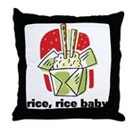 Rice Rice Baby Throw Pillow