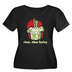 Rice Rice Baby Women's Plus Size Scoop Neck Dark T